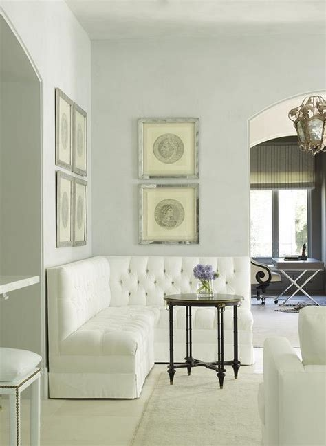 White Banquette Bench by Corner Banquette Design Ideas