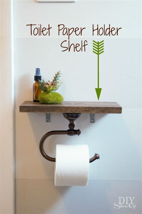 How To Make A Toilet Out Of Paper - toilet paper holder shelf and bathroom accessoriesdiy show