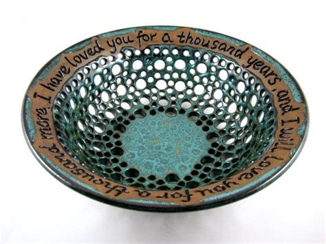Handmade Pottery Gifts - handmade pottery fruit bowl wedding gift l lace design