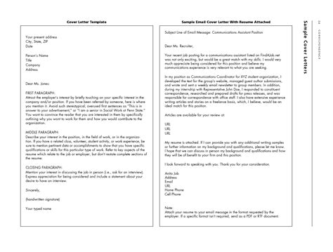 Emailing Resume And Cover Letter by Resume Exles Templates 10 Emailing Resume And Cover