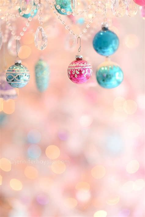 pastel ornament wonderland bokeh christmas photography