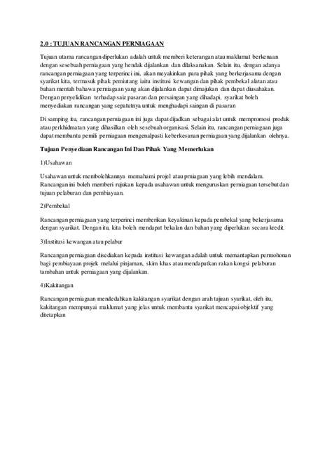 format proposal untuk memulakan perniagaan rancangan perniagaan taska