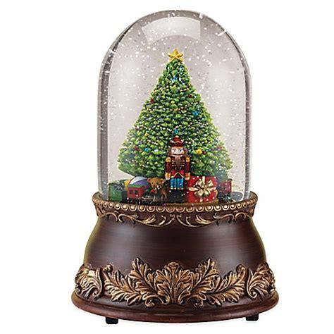 roman 7 inch christmas tree musical glitterdome bed bath