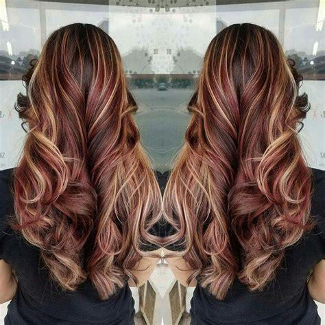 brown hair red tint blode highlights best 25 long burgundy hair ideas on pinterest burgundy
