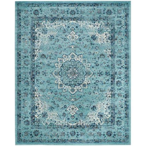 10 X 10 Blue Area Rug - safavieh evoke light blue 8 ft x 10 ft area rug evk220e
