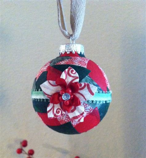Handmade Fabric Ornaments - handmade ornament fabric mod podge ornaments