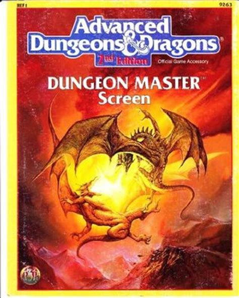 advanced dungeons dragons 2nd edition seads advanced dungeons dragons dungeon master screen ref 1