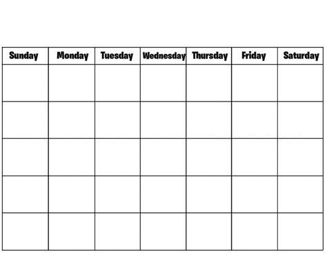 Blank Calendar To Print Blank Calendar Print Out Free Calendar 2017