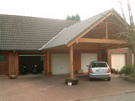 Garage With Carport | file carport in front of garages jpg wikimedia commons