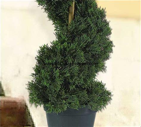 artificial outdoor topiary trees 3 cedar spiral artificial topiary tree w pot indoor outdoor