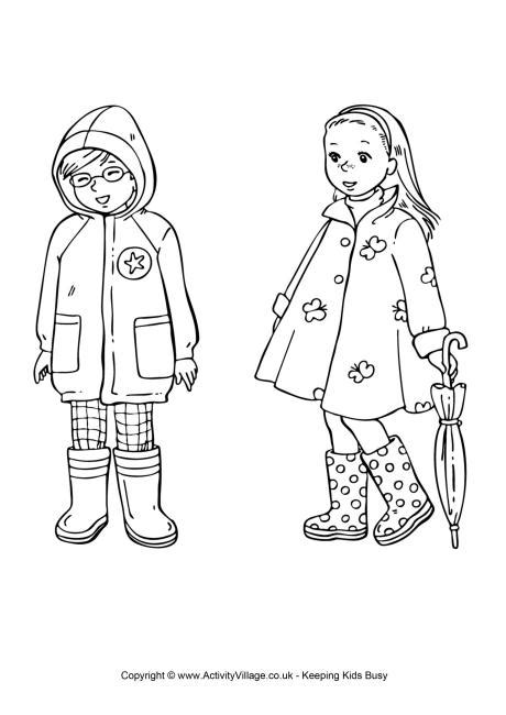 coloring page of clothes spring clothing colouring page kid s spring coloring