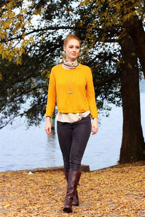 herbst look gelb kombinieren advance your style - Gelb Kombinieren