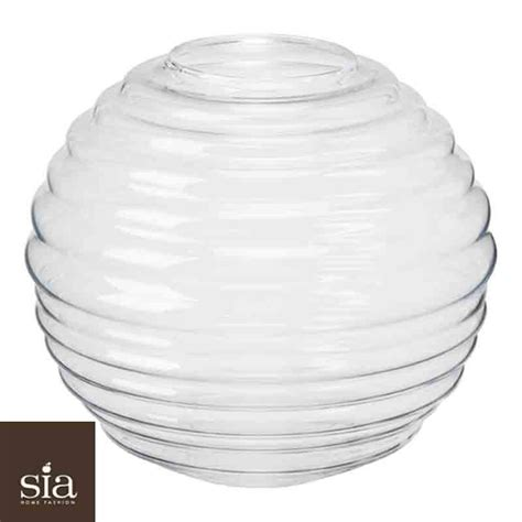 Sia Vase by Sia Vase Waves Clear D37 H33
