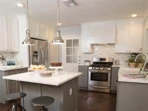 Here is another kitchen the two toned beadboard cabinets in grey and
