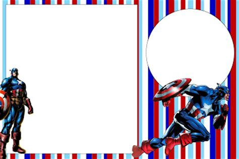 Captain America Free Printable Invitations Oh My Fiesta In English Free Captain America Invitation Templates