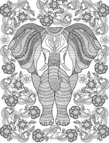 coloring book adults 19 best images about coloring elephants on