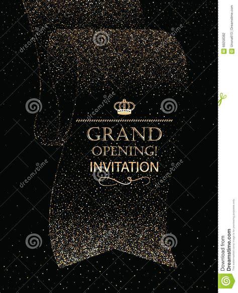 invitation card design for grand opening grand opening invitation card with abstract ribbon stock