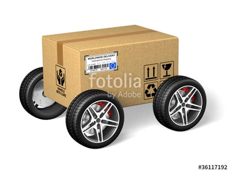 Wheels Box quot cardboard box with wheels quot stock photo and royalty free