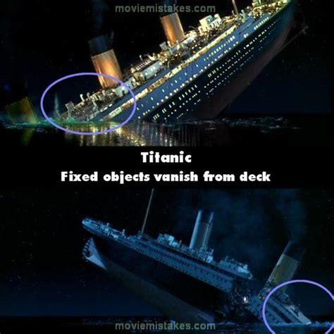 pelicula de un barco que se hunde 19 errores de la pel 237 cula de titanic que no viste