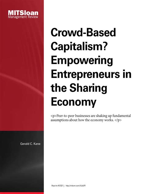 Nyu Mba Entertainment Media Reviews by Crowd Based Capitalism Empowering Entrepreneurs In The
