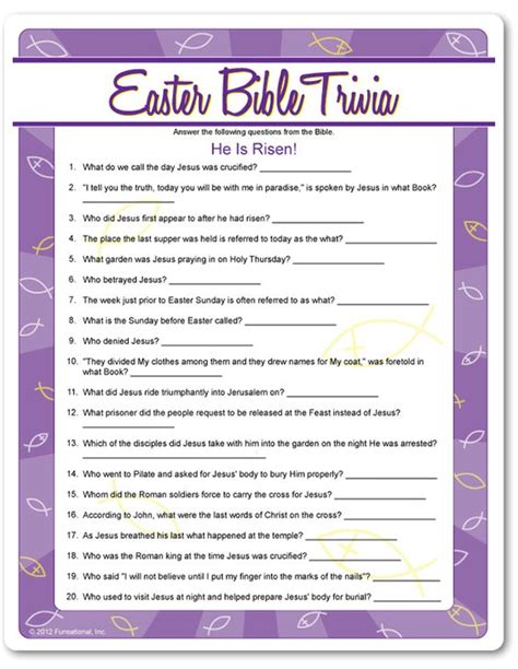 printable easter quiz bible trivia trivia and easter on pinterest