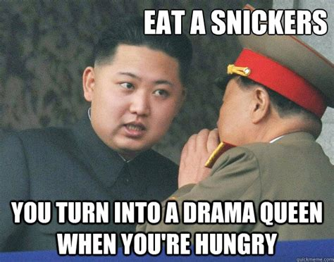 Snickers Commercial Meme - eat a snickers you turn into a drama queen when you re