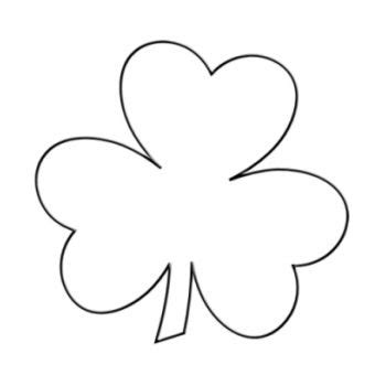 of clovers card template shamrock template st s day ideas