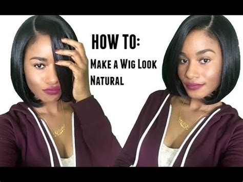 how to make front of wig look like porsha williams how to make a lace wig look natural youtube