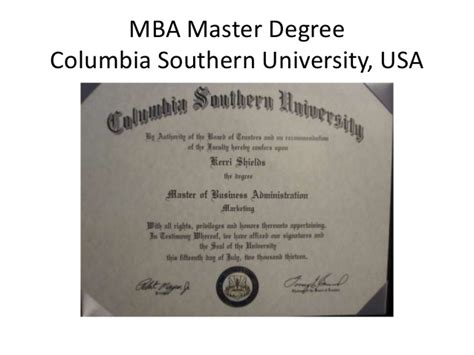 Bs Mba Diploma by Columbia Southern Degree Related Keywords