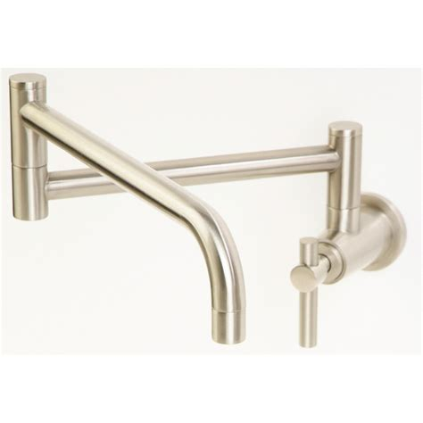 wall mount kitchen faucets shop giagni contemporary stainless steel 1 handle pot