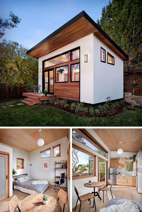 prefab backyard guest house the britespace prefab home a 264 sq ft home that comes