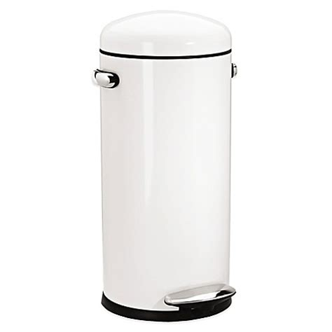 bed bath and beyond simplehuman trash can buy simplehuman 174 retro step 30 liter trash can in white