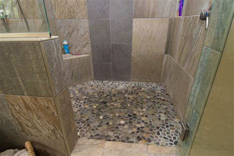 Riverstone Tile Bathroom Lake Oswego Lake Remodel Eclectic Bathroom Portland By Riverland Homes Inc
