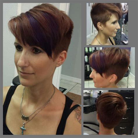 short pixie cut caramel pixie undercut hair haircut caramel brown brunette with
