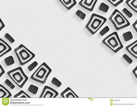 black and white abstract background template stock vector
