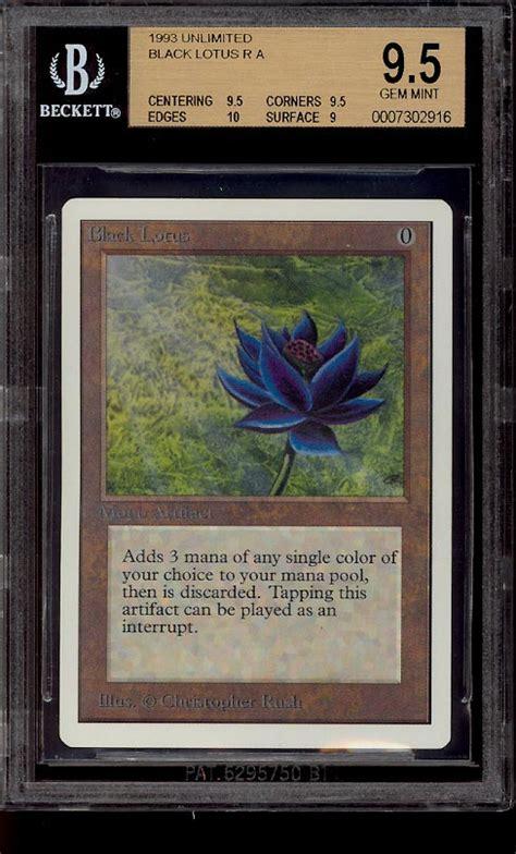 black lotus mtg price 1993 magic the gathering unlimited black lotus r a bgs 9 5