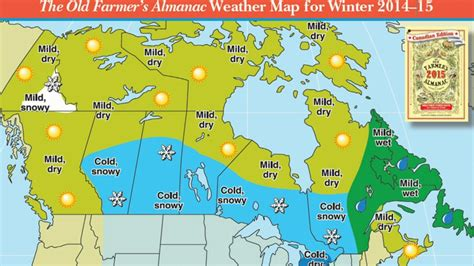 canada weather forecast map farmer s almanac weather forecast cold and snowy