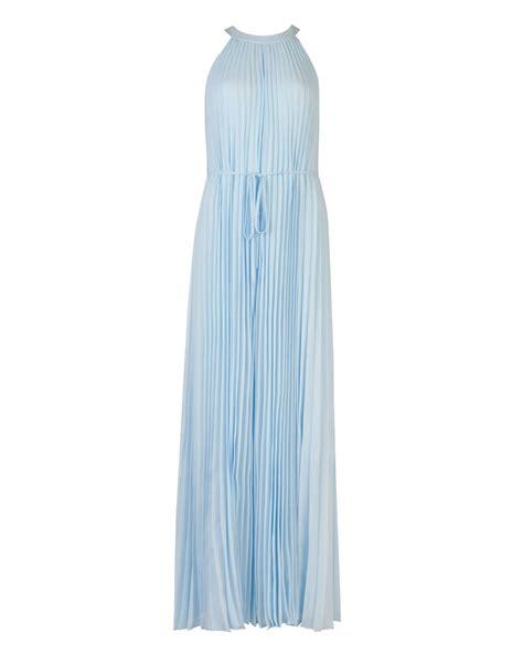 light blue maxi dress ted baker haylea pleated maxi dress in blue light blue