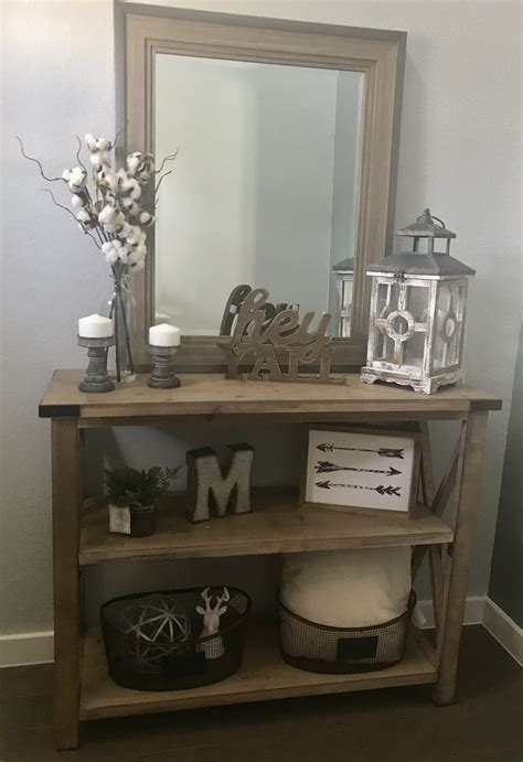 how to an entry table modern farmhouse entry way console table decor
