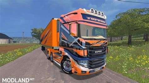 Fs 720 Atasan Kombi Jumbo scania r700 evo and trailers toprun mod for farming simulator 2015 15 fs ls 2015 mod
