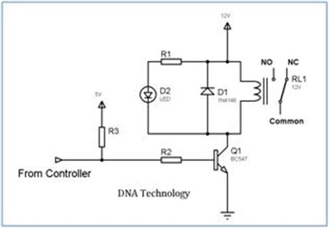 npn transistor driver circuit interfacing relay to microcontroller