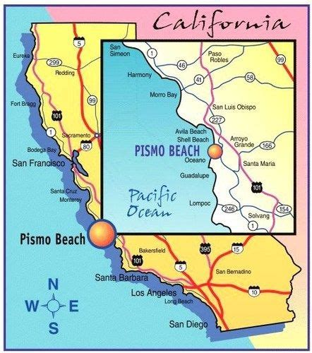 pismo california map the cliffs at shell pismo ca sand sle