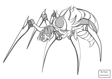 black spider coloring page black widow spider coloring pages 4710