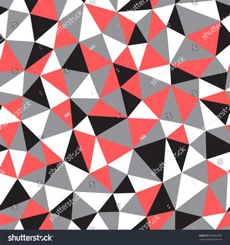 recurrence pattern en français low poly seamless abstract vector pattern stock vector