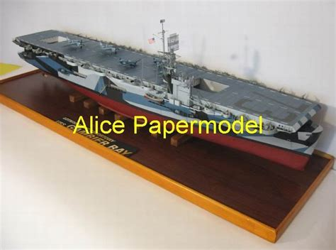 How To Make A Paper Aircraft Carrier - papermodel 1 4 meter wwii us aircraft carrier