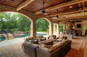 Luxury Ranch House Plans For Entertaining Outdoor Living Space