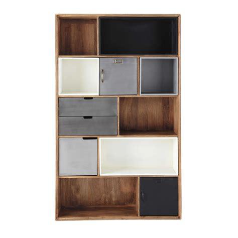 librerie maison du monde libreria stile industriale in massello di mango l 110 cm
