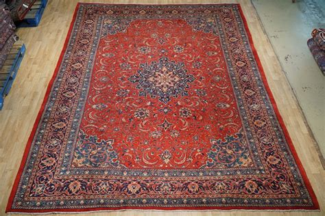vintage kitchen rugs rugs for kitchen rug handmade 9 x 12 semi antique sarouk veritable ebay