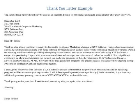 Thank You Letter Supervisor Sle Thank You Letter To 22 Free Documents In Word