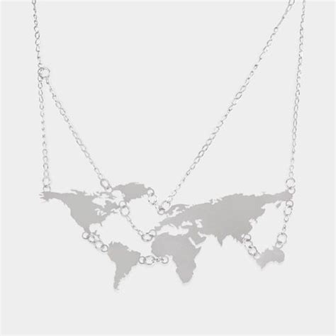 World Map Statement Necklace best 25 map necklace ideas on bling maps buy